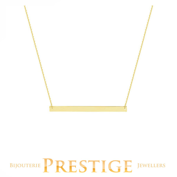 BAR NECKLACE 14KT YELLOW GOLD 18""