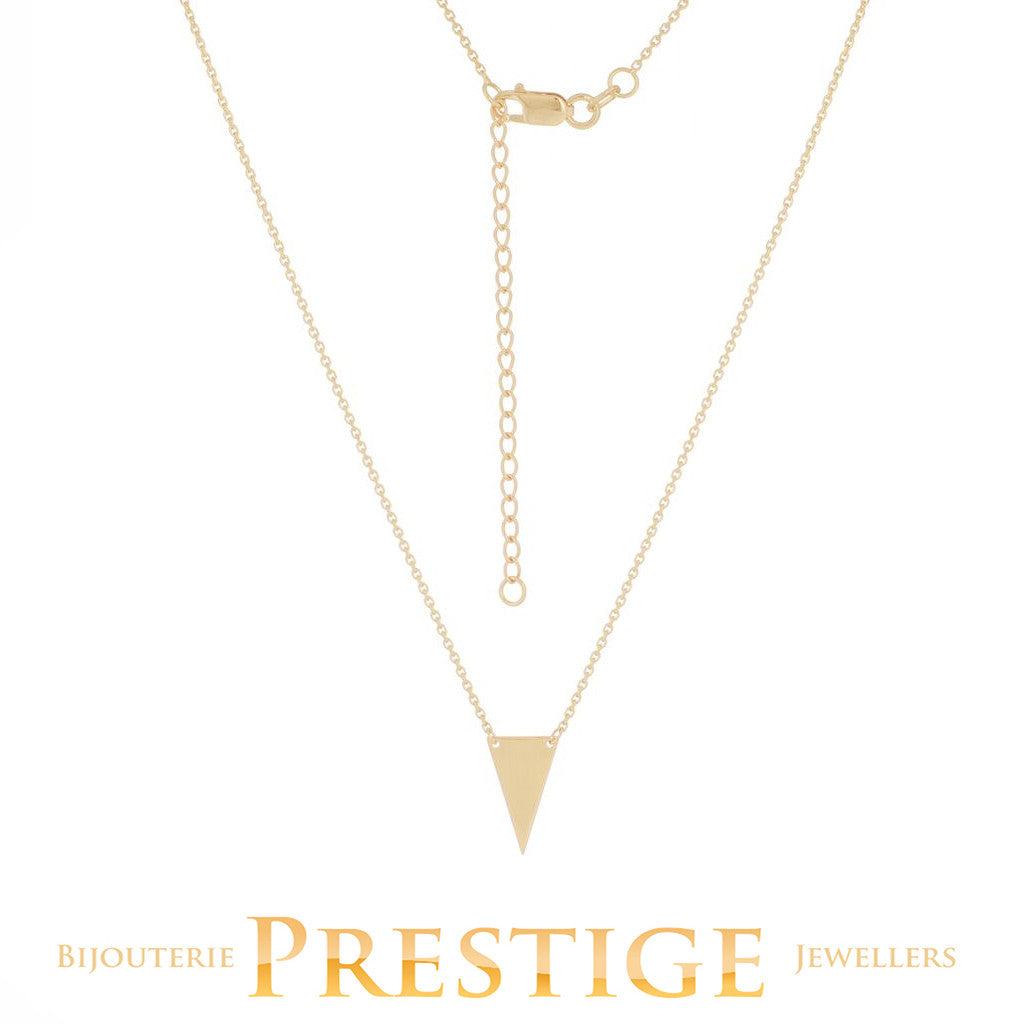 MINI TRIANGLE CONNECTION NECKLACE 14KT GOLD 18""