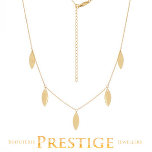 DANGLE TEAR DROP STATION NECKLACE CABLE CHAIN 14KT YELLOW 18""