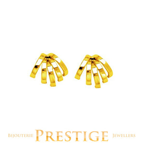 SQUARE TUBE FANCY EARRINGS 14KT YELLOW GOLD