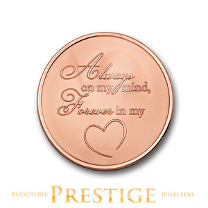 Mi-Moneda Angel & Heart Plated Reversible Coin - Multiple Sizes