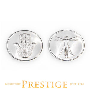 Mi-Moneda Da Vinci & Hand Reversible Coin - Multiple Sizes