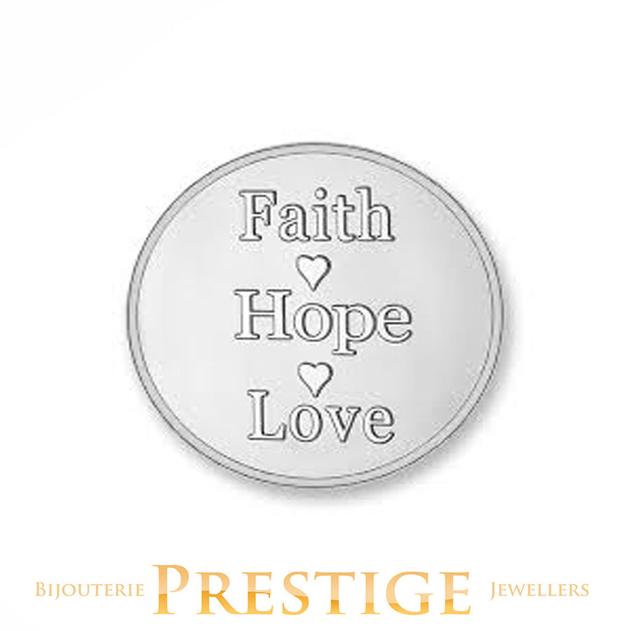 MI-MONEDA ANCHOR & FAITH PLATED REVERSIBLE COIN - MULTIPLE SIZES