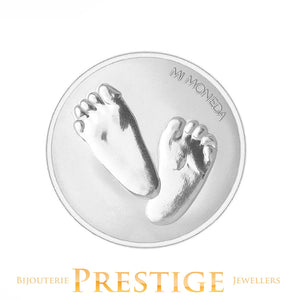 MI-MONEDA BABY FEET & TE QUIERO PLATED REVERSIBLE COIN - MULTIPLE SIZES