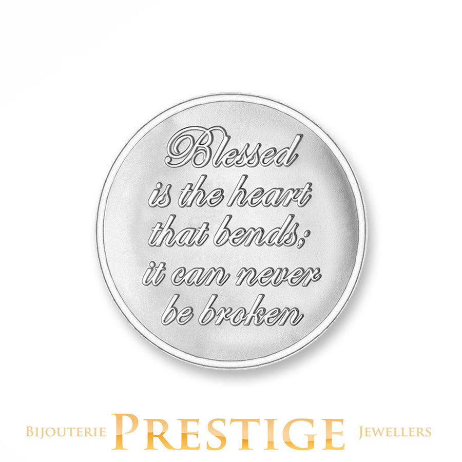 MI-MONEDA BLESSED & BELIEVE PLATED REVERSIBLE COIN - MULTIPLE SIZES