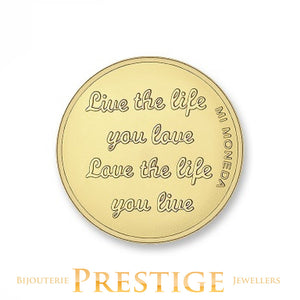 MI-MONEDA CARPE DIEM & LIVE THE LIFE PLATED REVERSIBLE COIN - MULTIPLE SIZES
