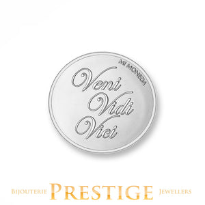 MI-MONEDA DOLCE VITA & VENI VIDI VICI PLATED REVERSIBLE COIN - MULTIPLE SIZES