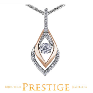 MAPLE LEAF CANADIAN DIAMOND NORTHERN DANCER 18KT PENDANT WITH CHAIN