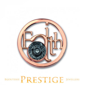 MI-MONEDA FAITH STAINLESS STEEL ONE SIDED COIN - LARGE