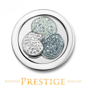 MI-MONEDA FLOWER STAINLESS STEEL ONE SIDED COIN - LARGE