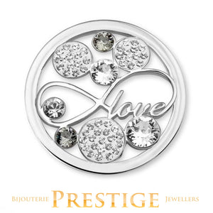 MI-MONEDA LOVE STAINLESS STEEL ONE SIDED COIN - LARGE