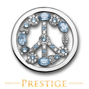 MI-MONEDA PEACE STAINLESS STEEL ONE SIDED COIN - LARGE