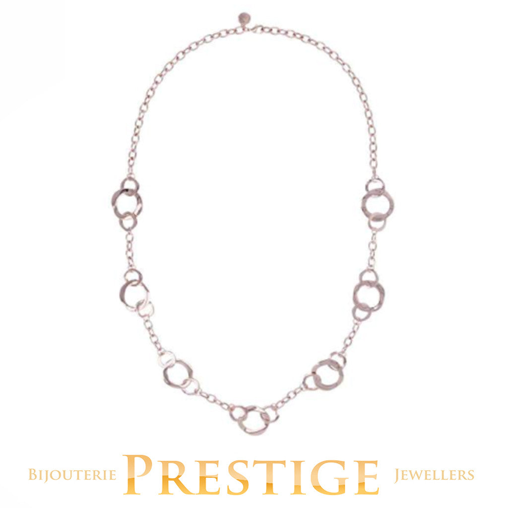 BRONZALLURE ELLIPTICA LINK NECKLACE