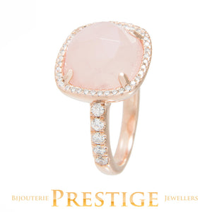 BRONZALLURE PREZIOSA MULTIFACETED SHINY RING