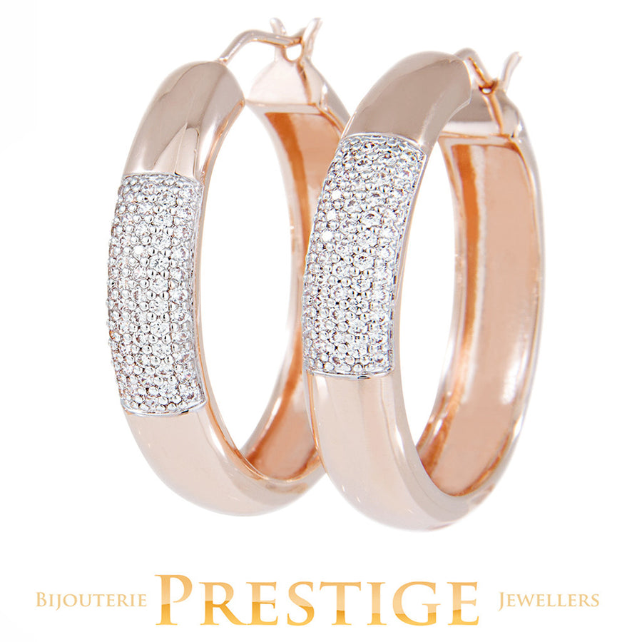 BRONZALLURE ALTISSIMA PAVE EARRINGS