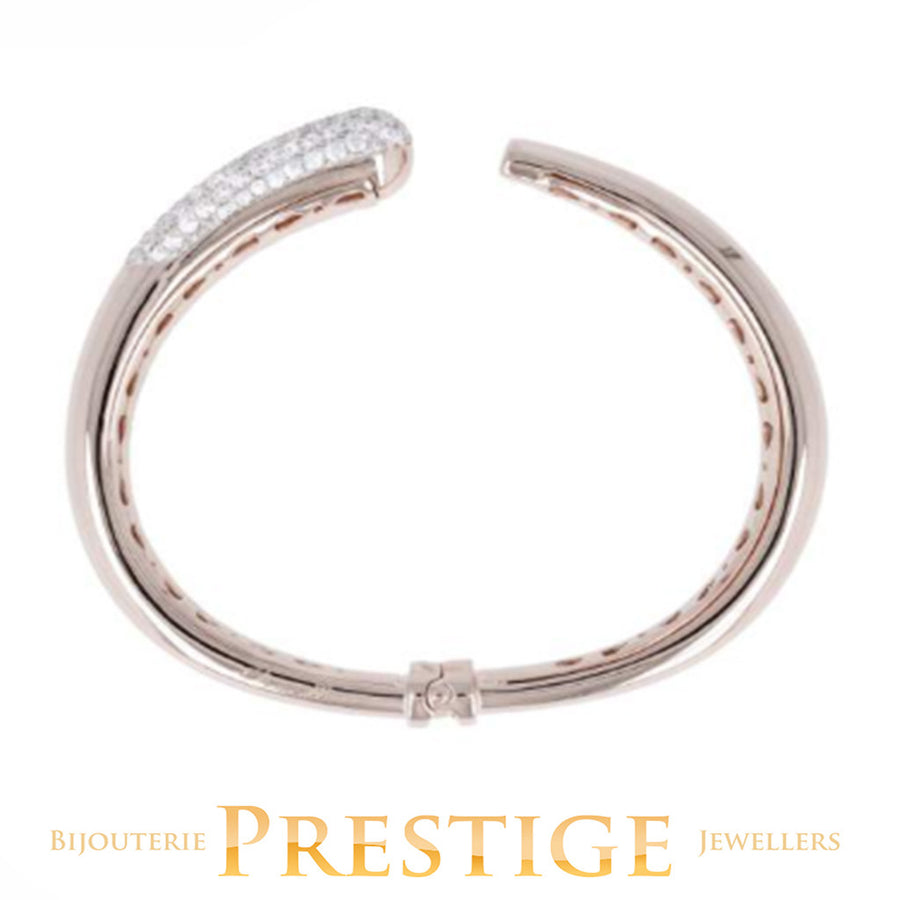 BRONZALLURE PREZIOSA GRADUATED SHINY CLASP BANGLE