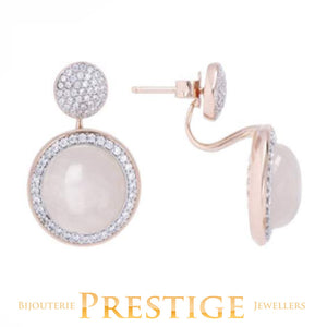 BRONZALLURE PREZIOSA FACETED EARRINGS