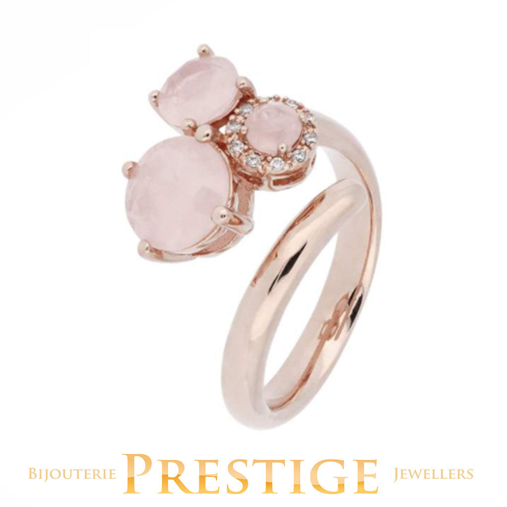 BRONZALLURE PREZIOSA THREE STONES RING