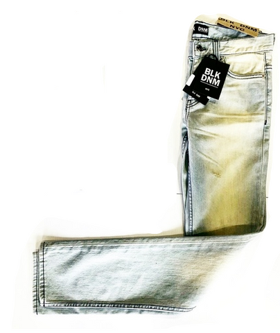 BLK DENIM SLIM FIT DISTRESSED LIGHT