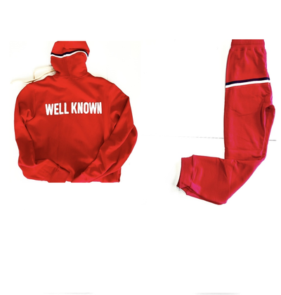 BOWERY JOGGER SUIT RED