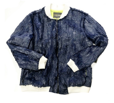 OREN CASH BLUE FEATHER BOMBER Navy