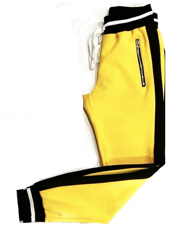 YELLOW  TRACK PANTS