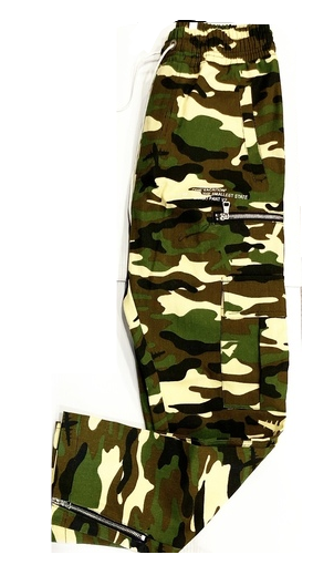 CAMO ZIPPED JOGGERS GREEN