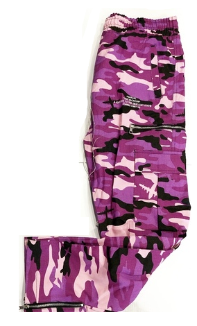 CAMO ZIPPED JOGGERS PURPLE