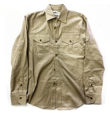 PUBLIC TREASURY TAN BUTTON UP