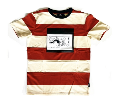 OUT MY MIND STRIPE CREW NECK