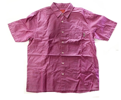 PINK SHORT SLEEVE BUTTON UP