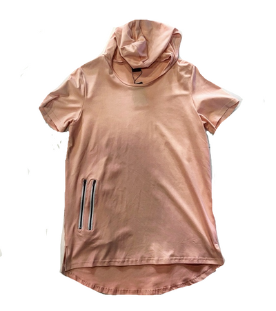 LUX SAV PINK HOODIE ZIPPED POCKETS