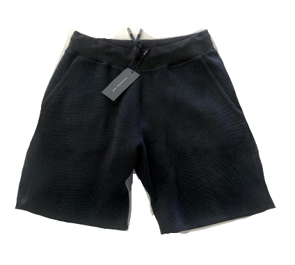 EMBOSSED PINSTRIPE SHORTS NAVY