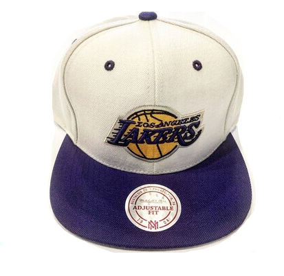CLASSIC LAKERS CREAM STRAP BACK