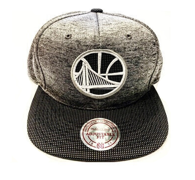 WARRIORS BLACK GREY SNAPBACK