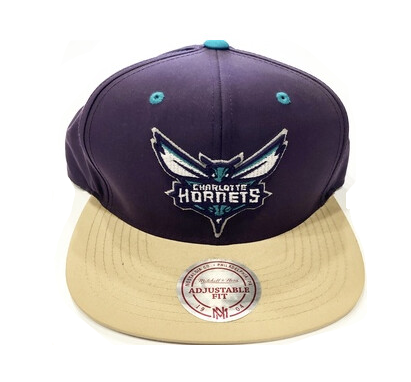 HORNETS PURPLE STRAP BACK