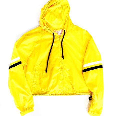 YELLOW WINDBREAKER CROP