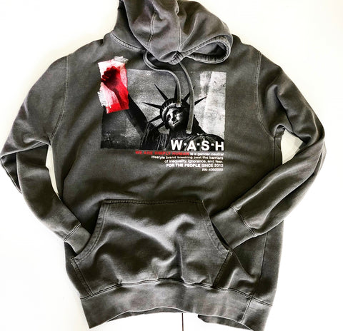 STRENGH IN NUMBERS HOODIE GREY