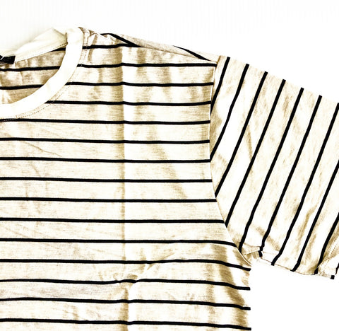 CREAM BLACK STRIPE