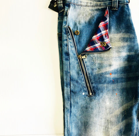 PLAD POCKET SPLATTER SLIM FIT