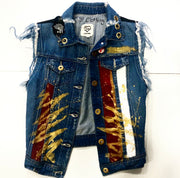 ROLLING STONES  CUSTON DENIM VEST
