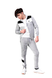 GREY ZIPPED TRACKSUIT