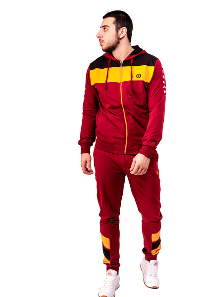BURGUNDY  ZIPPED TRACKSUIT