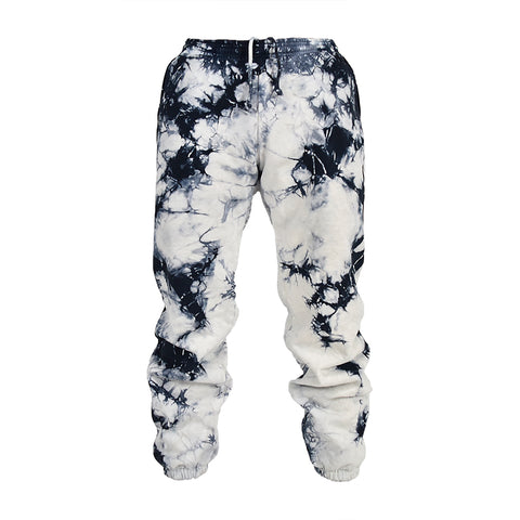 Men Black Lighting Tie Dye Sweatpants