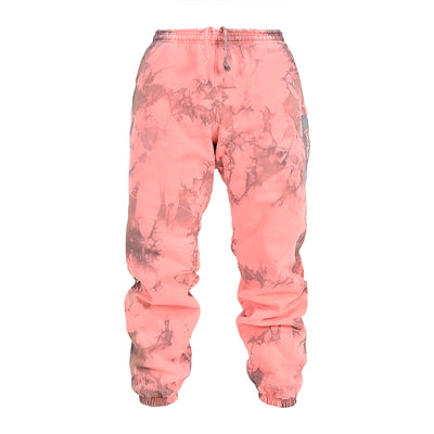 Men Coral Lighting Tie Dye Sweatpants