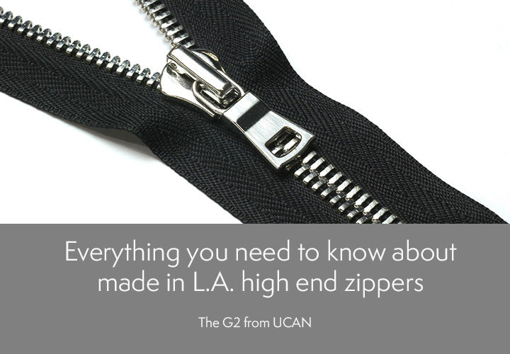 UCAN Zippers G2 Made in Los Angeles Leather Goods Design