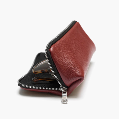 The Visionaire Slim Glasses Case - Red