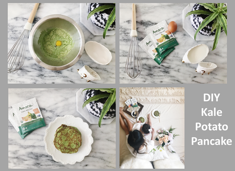 DIY Kale Potato Pancakes