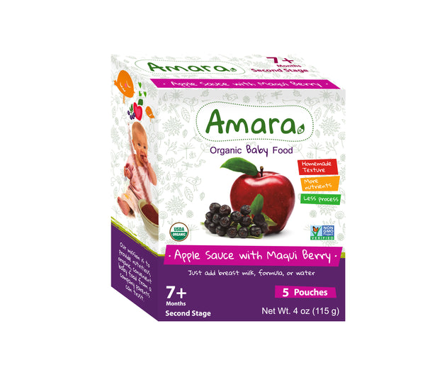 Amara Organic Baby Food - Apple Sauce with Maqui Berry