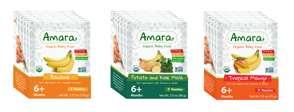 Amara Organic Baby Food - Variety Pack: Introduction to Solids